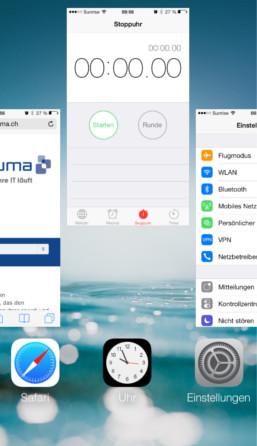 iOS 7 Apps beenden