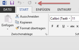 Office 2013: direktdruck symbol