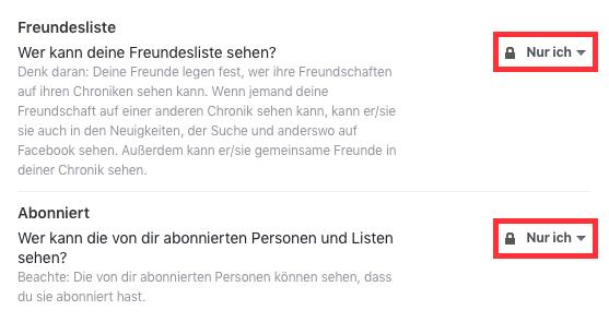 Facebook-Freundesliste